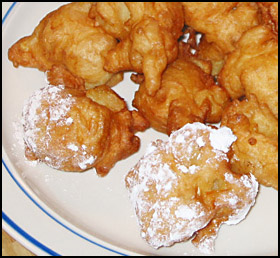 deep fried apple fritters